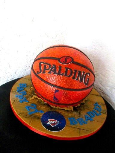 Basketball cake. Spalding