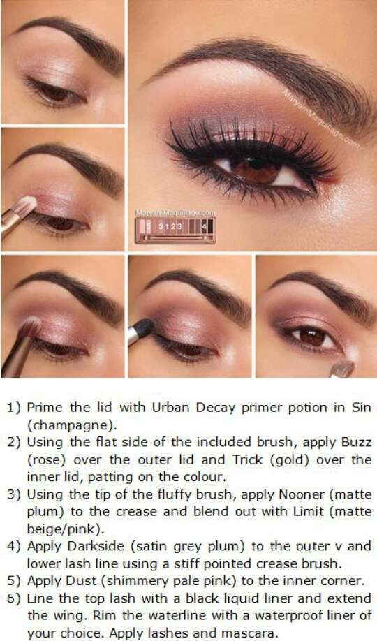 Naked 3 Palette Tutorials #Beauty #Trusper #Tip