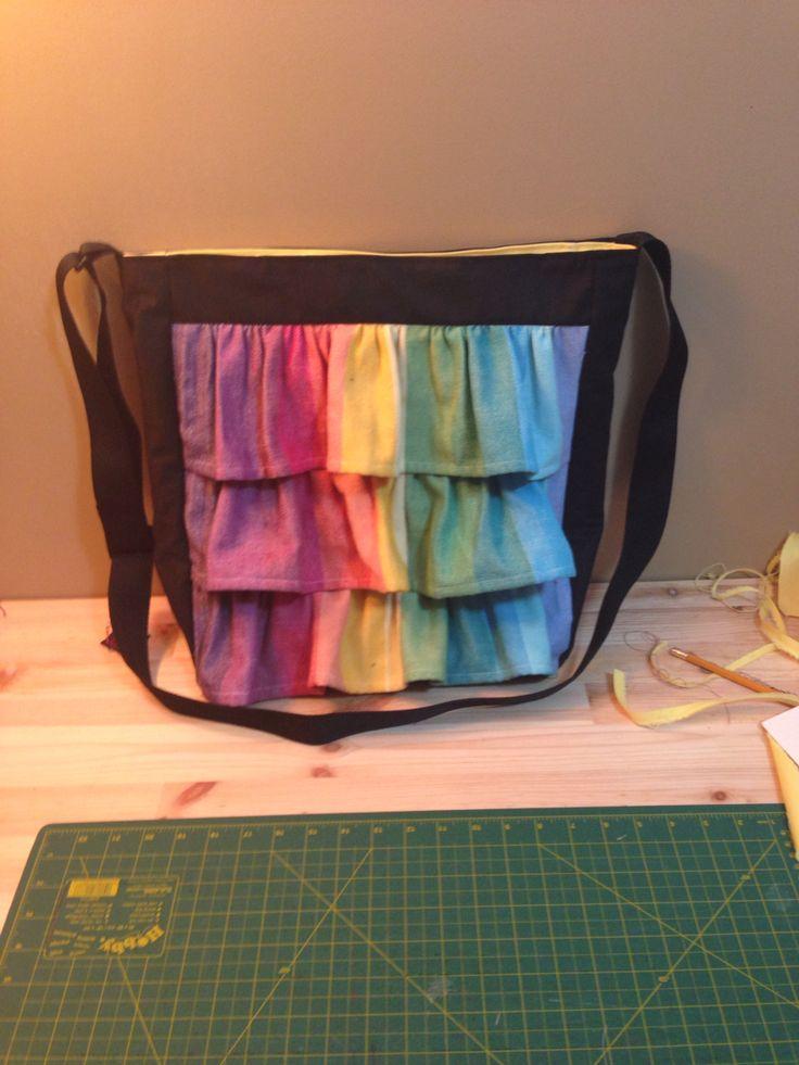 Girasol ruffle purse (Sold for $75)