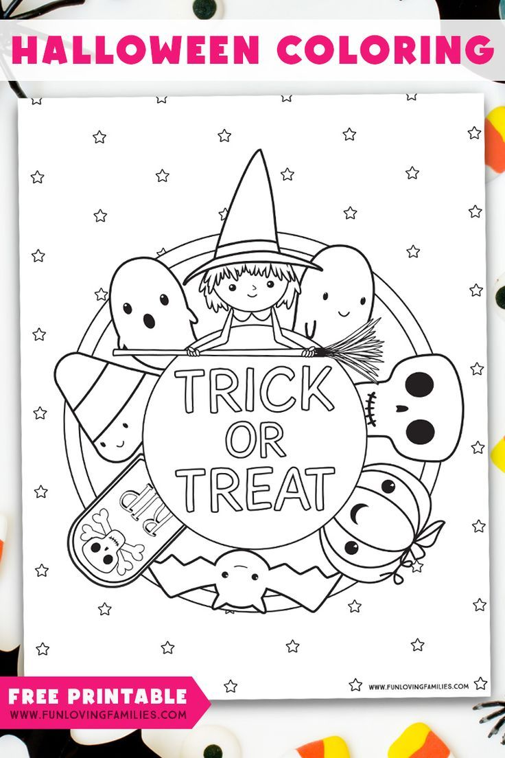 Free Printable Halloween Coloring Page Halloween Coloring Pages