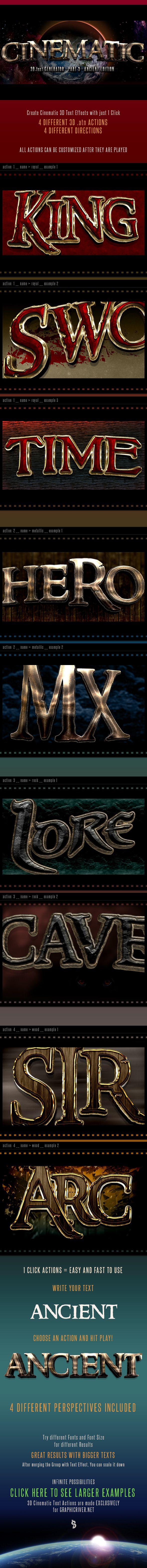 3D Cinematic Text Generator 3 - Actions