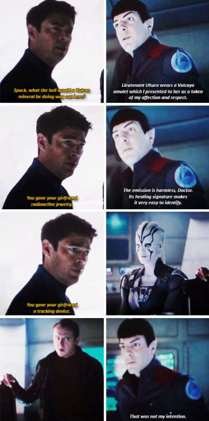 "Star Trek Beyond | Spock & Bones - ""You gave your girlfriend a tracking device?"""