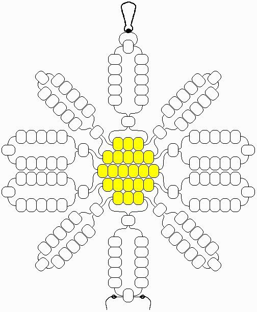 Daisy Beaded Necklace Patterns