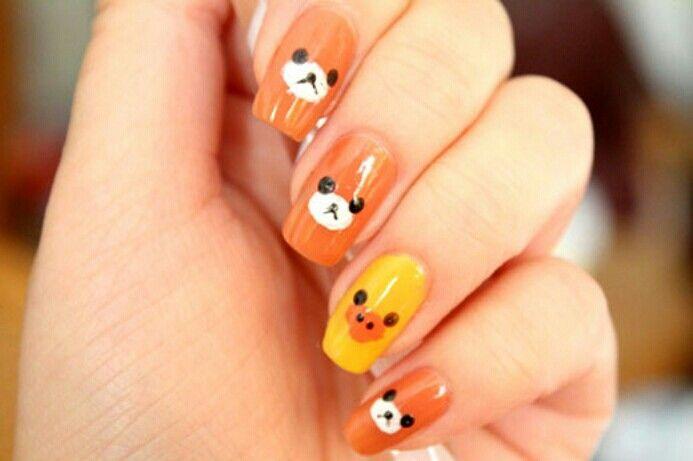 Rilakuma nails !  cute.bear and duck nails