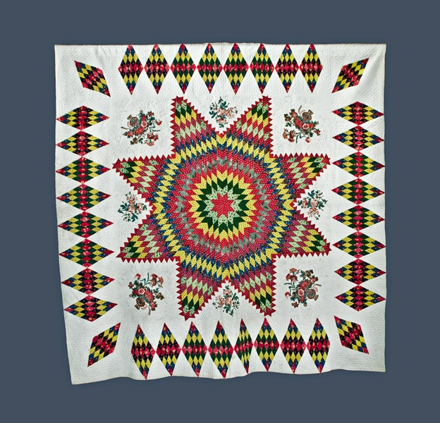 Exceptional American Star Quilt: Stars Quilts, Chintz Stars, Star Quilts, Quilts Traditional, Antiques Quilts, American Stars