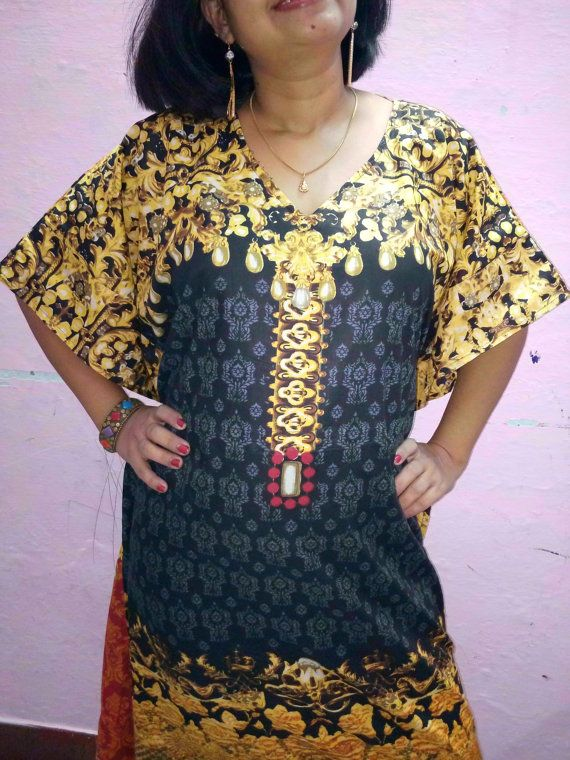 Cotton caftan cotton kaftangypsy dress robe gown tunic