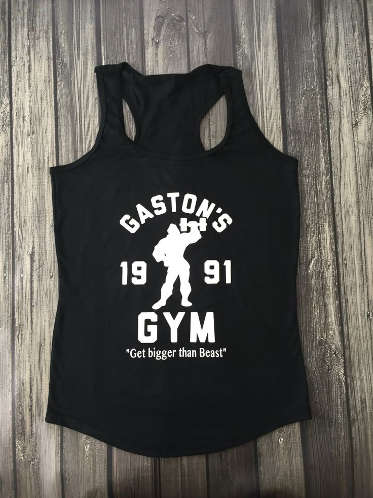 Gaston's Gym Beauty and the Beast Belle Tank Top running training for half marathon 5K 10k glass slipper challenge by…