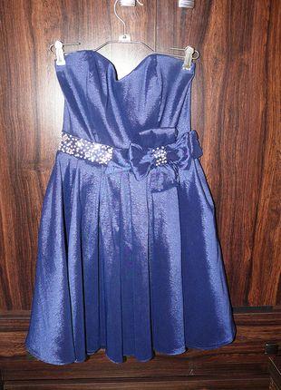 Kup mój przedmiot na #vintedpl http://www.vinted.pl/damska-odziez/sukienki-wieczorowe/10011663-piekna-granatowa-rozkloszowana-ozdobna-sukienka-na-wesele-studniowke