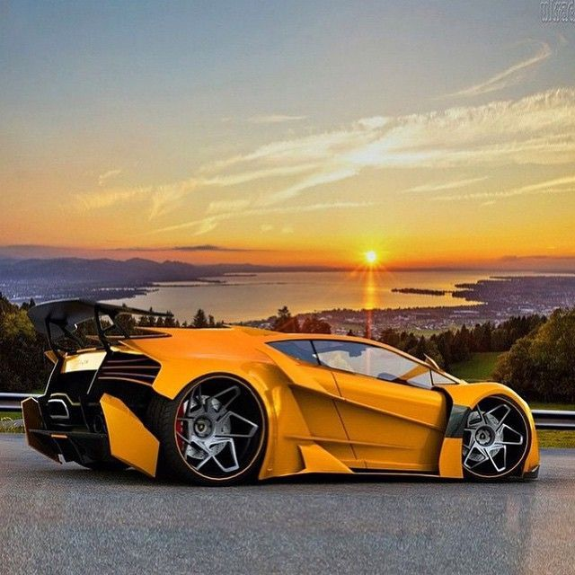 Concept #Lamborghini Tuning - Is there and rubber on those rims - awesome