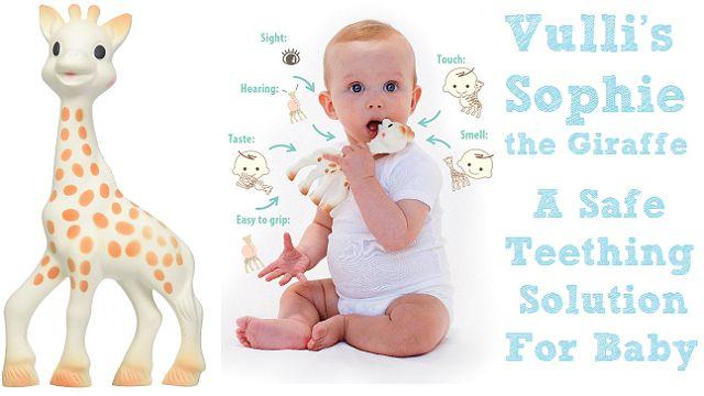 Vulli's Sophie the Giraffe: A Safe Teething Solution For Baby http://www.momvelous.com/vullis-sophie-the-giraffe-a-safe-teething-solution-for-baby #sophie #giraffe #teether #baby