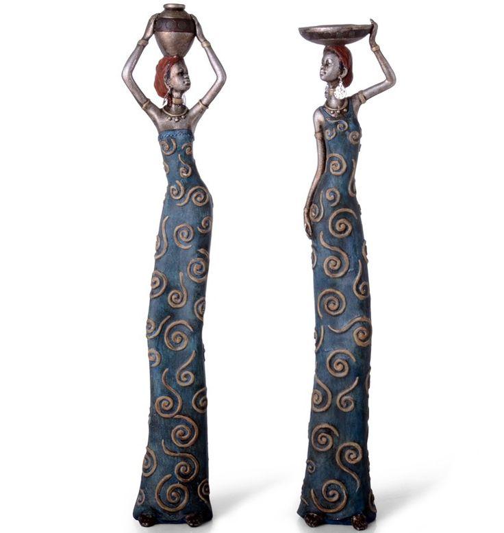 Figura decoracion mujeres africanas decoracion del hogar for Decoracion del hogar pinterest