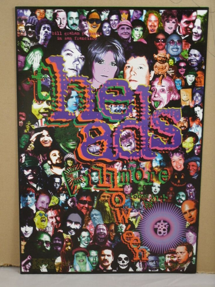 "Fillmore Music Poster    ""The Heads""  Original 1996 Fillmore - San Francisco by MoviePostersAndMore on Etsy"