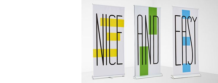 Retractable Banners- Our retractable banners are great for trade shows, events, expositions and retail stores. They roll-up in seconds, making presentation set-up quick and easy! Each banner is lightweight and comes with a carrying bag for convenient transport.
