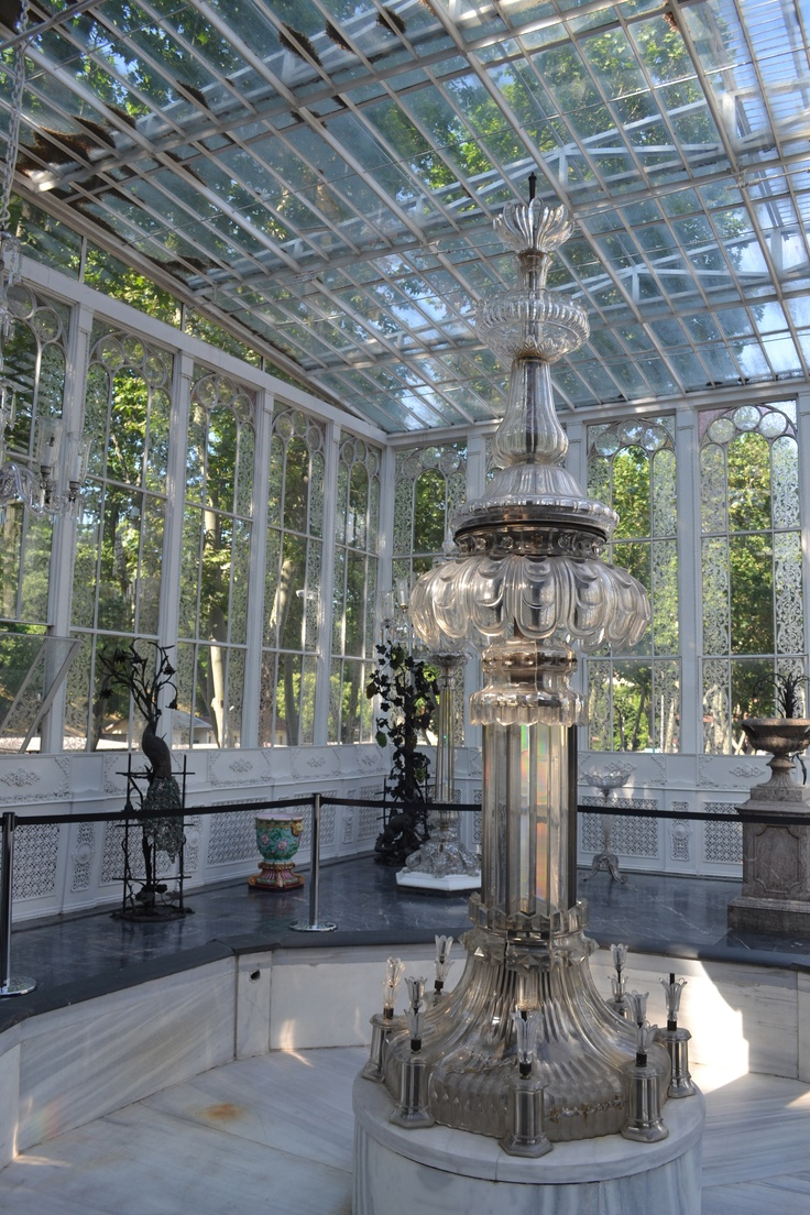 Dolmabahce palace, Istanbul. A crystal conservatory.