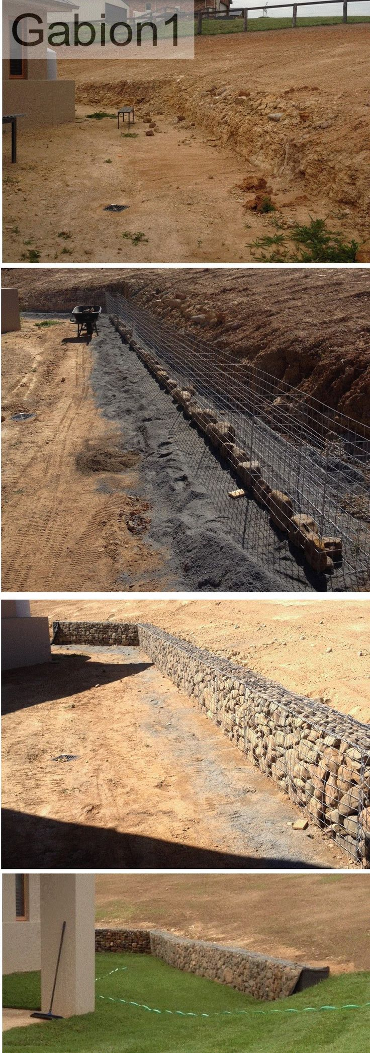 gabion retaining wall before, during and after http://www.gabion1.com.au