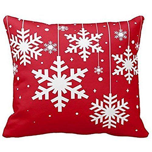 Clearance ! AmyDong Christmas Santa Claus Red Printed pillowcase - christmas clearance decor