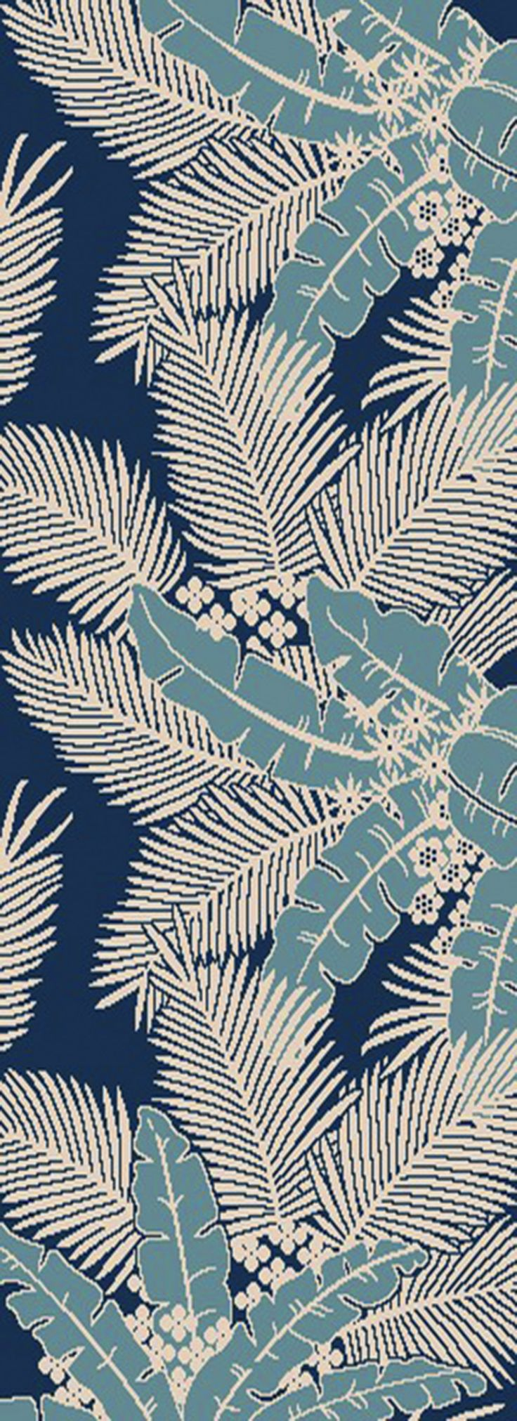 Blue Tropics Area Rug
