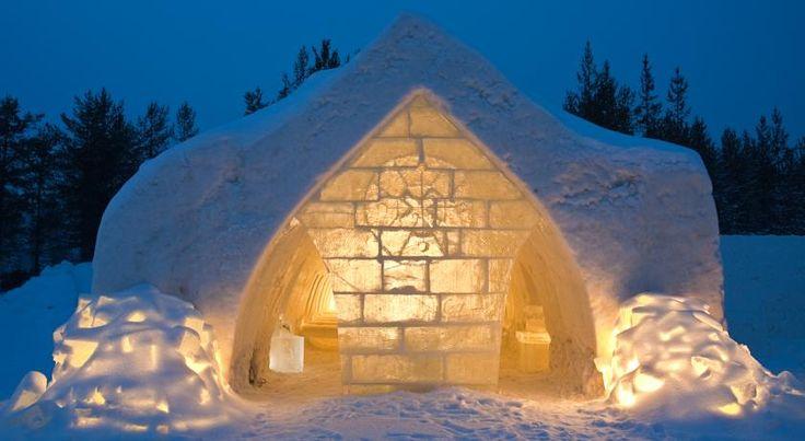 3-sterren Artic Snow hotel in Finland.