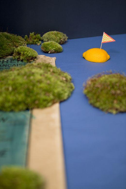 Z comme Zéro, set design planisphère et l'île citron par Les Trafiquantes