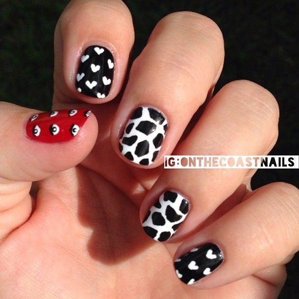 Inspired by Burberry prints from fall/winter 2013 and a kenzo skirt by onthecoastnails #nail #nails #nailart