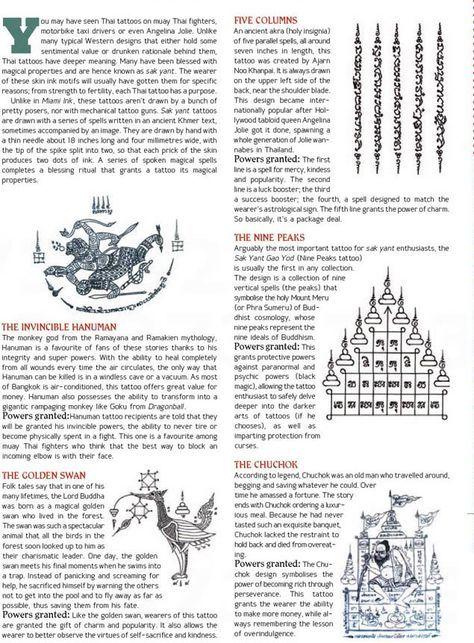 "Sak Yant (Thailand's ""Magic Tattoos"") some of …"
