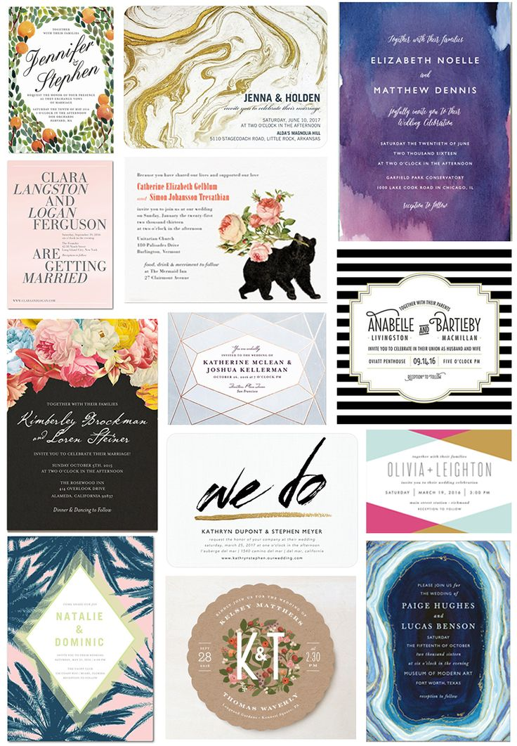 Wedding invitations that are super stylish, but won't break your paper budget.