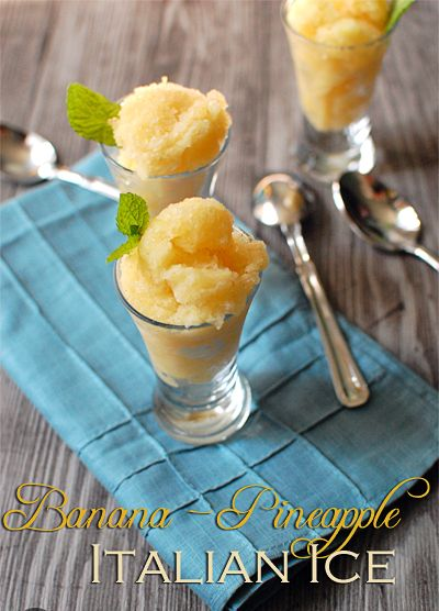 Banana Pineapple Italian Ice is a refreshing, frozen treat served any time. easy #recipe at TidyMom