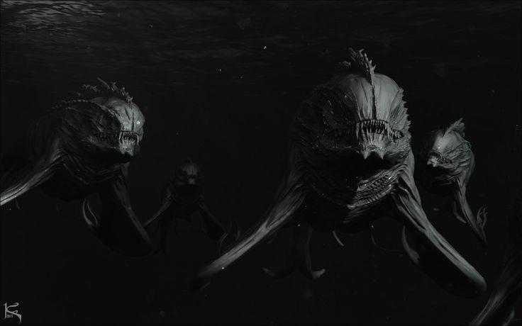 Dark Universe Creature Doodle 11, Kenny Carmody on ArtStation at https://www.artstation.com/artwork/1PoNL