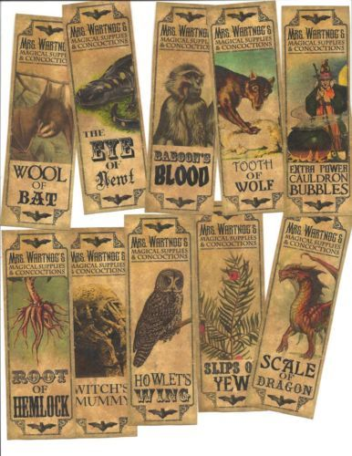 20-Vintage-look-Halloween-primitive-labels-Apothecary-Magical-Concoctions