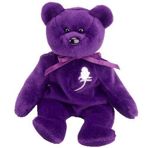 Purple Princess Ty Beanie Bear