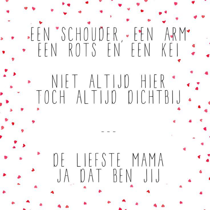 JIP. gedichtje voor je moeder #moederdag #gewoonjip #gedichtje