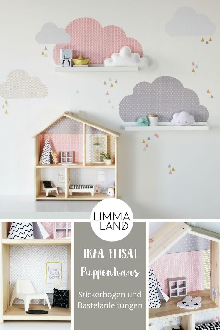 Puppenhaus Möbel und Einrichtung: Hier findet ihr unsere DIY Ideen für stylische Möbel und Einrichtung zum Selbermachen + kostenlose Bastelvorlage. Passt natürlich nicht nur zum IKEA FLISAT Puppenhaus ;-)