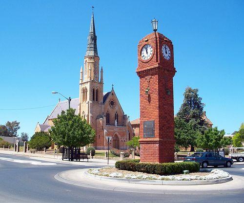 Memorial Clock and Catholic Church Mudgee NSW