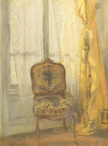 Aurel Bordenache (1902-1987) Fotoliu la ferestră/Armchair at the window