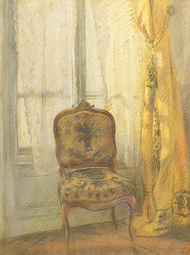 Aurel Bordenache (1902-1987) Fotoliu la ferestră/Armchair at the window