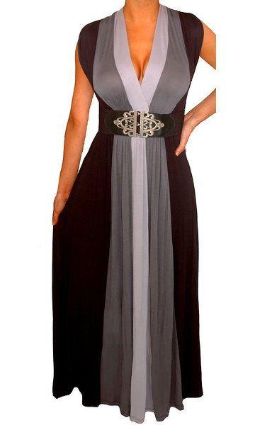 Funfash Plus Size Dress Black Women Cocktail Maxi Dress