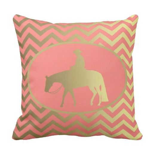 Golden Western Pleasure Horse Pillow #Palomino #WesternPleasure
