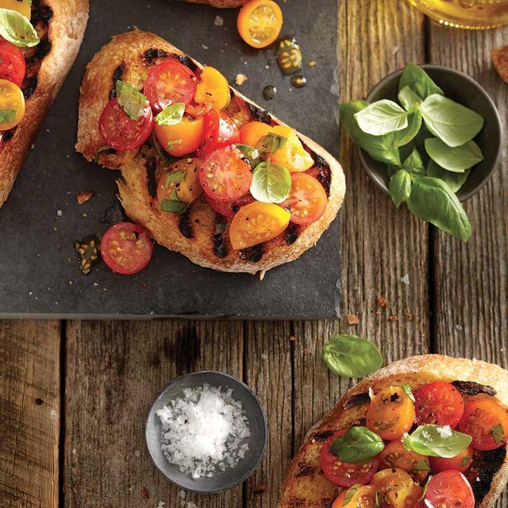 C'est l'abondance de tomates! Une recette rapide aux accents méditerranéens.