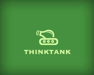 60 Highly Clever Minimal Logo Designs   Bluefaqs -- Thinktank by Alexander