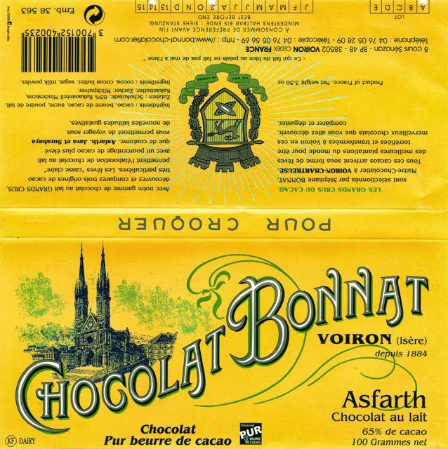 tablette de chocolat lait dégustation bonnat lait asfarth