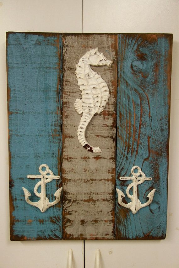 Antique style nautical coat rack beach style by LynxCreekDesigns, $55.00