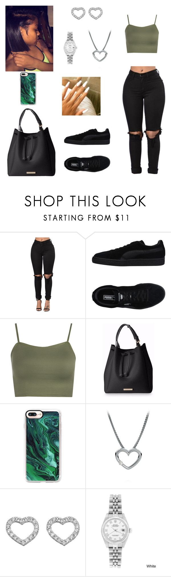 """""""Untitled #735"""" by honeycombs23 ❤ liked on Polyvore featuring Puma, WearAll, Casetify, Hot Diamonds and Rolex"""