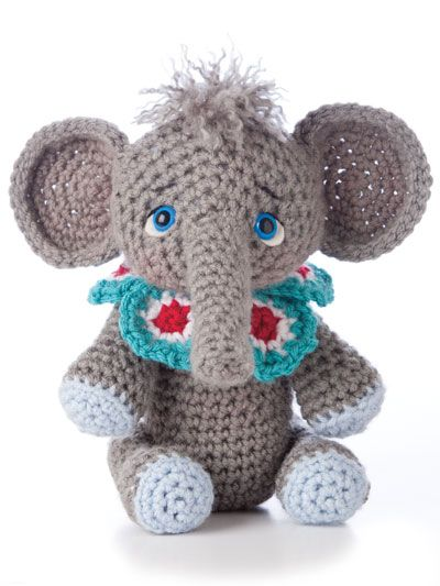 Animal Amigurumi to Crochet http://www.maggiescrochet.com/animal-amigurumi-to-crochet-p-2508.html #animal #amigurumi #elephant #crochet