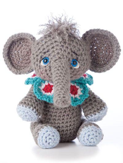 Animal Amigurumi to Crochet http://www.maggiescrochet.com/animal-amigurumi-to-crochet-p-2508.html #animal #amigurumi #elephant #crochet