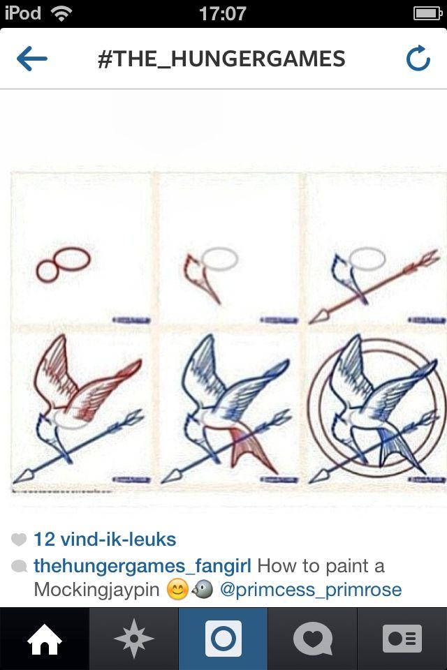 Draw spotgaai from katnis everdeen
