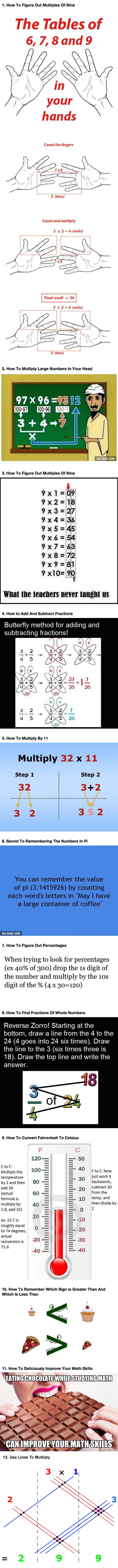 If you're bad at math, it's because you didn't learn these 12 simple tricks