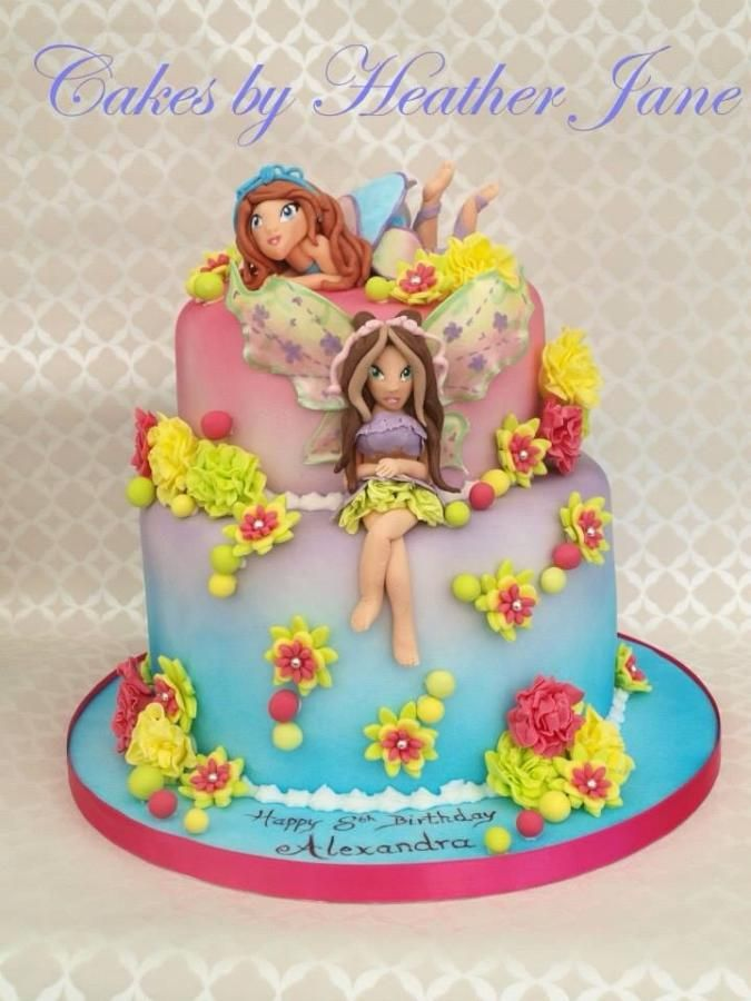Winx Club Birthday Cake ~ flora and bloom
