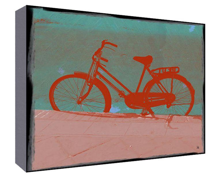 Female Bike Wall Art