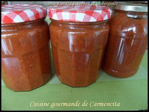 J 'avais envie de mettre un peu de soleil en réserve pour cette hiver. Une sauce qui se déguste aussi bien chaude que froide avec du poisson, viande, légume, pizza, vous avez le choix. Ingrédients 550g d'aubergines 650 g de poivrons 1 kg de tomates Romanes...