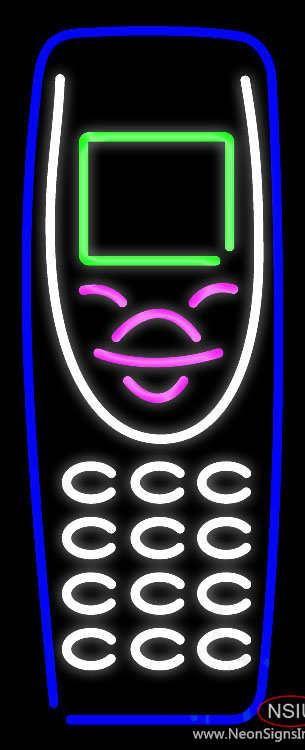 Cellular Logo Real Neon Glass Tube Neon Sign